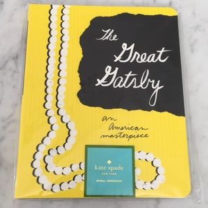 NWT Kate Spade Great Gatsby Notebook
